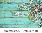 Welcome Sign With Wicker Heart...