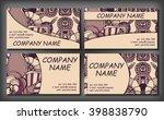 set of business card template ...   Shutterstock .eps vector #398838790