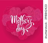 mother's day  pink flowers   Shutterstock .eps vector #398842423