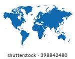world map | Shutterstock .eps vector #398842480