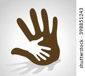 hand helping  | Shutterstock .eps vector #398851243