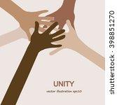 hands diverse unity...   Shutterstock .eps vector #398851270