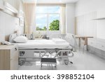 hospital room with beds and... | Shutterstock . vector #398852104