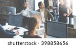 Stock photo business people using computer working concept 398858656