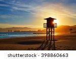 cullera playa los olivos beach... | Shutterstock . vector #398860663