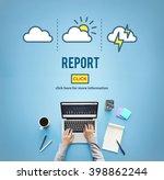 report inform management... | Shutterstock . vector #398862244