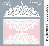 vector die laser cut wedding... | Shutterstock .eps vector #398863090