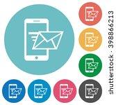 flat sending email icon set on...