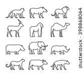 vector set outline african... | Shutterstock .eps vector #398868064