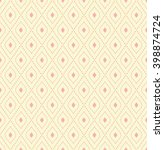 geometric colored ornament with ... | Shutterstock . vector #398874724