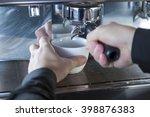 coffee machine making coffee   Shutterstock . vector #398876383