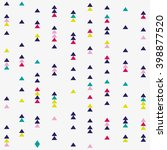 seamless triangle pattern.... | Shutterstock .eps vector #398877520