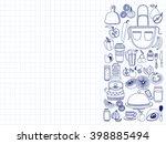 vector doodle set of... | Shutterstock .eps vector #398885494