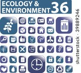 36 ecology buttons. vector | Shutterstock .eps vector #39889246