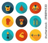 flat icons of martial arts in... | Shutterstock .eps vector #398894530