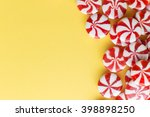 candies colorful mix on yellow... | Shutterstock . vector #398898250