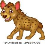 cartoon funny hyena | Shutterstock .eps vector #398899708