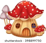 Illustration Mushroom House