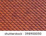 Clay Roof Tiles Of Thai Temple...