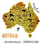 typography poster. australia... | Shutterstock .eps vector #398901184