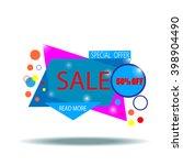 sale banner. vector illustration | Shutterstock .eps vector #398904490