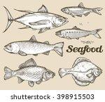 Seafood. Hand Drawn Sketch...