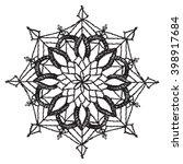 circular floral pattern ... | Shutterstock .eps vector #398917684