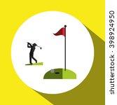 golf icon design  vector... | Shutterstock .eps vector #398924950