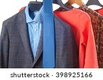 shirts on hangers  isolated on... | Shutterstock . vector #398925166