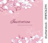 elegant floral background for... | Shutterstock .eps vector #398926294