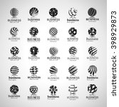 sphere icons set isolated on... | Shutterstock .eps vector #398929873
