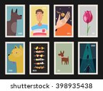 postage stamps collection.... | Shutterstock .eps vector #398935438