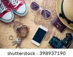tourism planning and equipment... | Shutterstock . vector #398937190