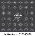 vintage sunburst vector...