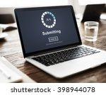 submitting online internet... | Shutterstock . vector #398944078