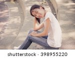 asia thai teenager women white... | Shutterstock . vector #398955220