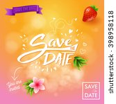 pretty save the date background ... | Shutterstock .eps vector #398958118