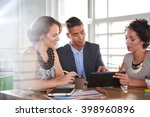 team of successful business... | Shutterstock . vector #398960896