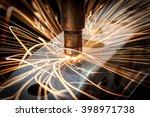 spot welding industrial... | Shutterstock . vector #398971738