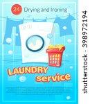 laundry service advertising...