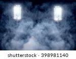 stadium lights and smoke | Shutterstock . vector #398981140