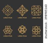 set of symmetric linear... | Shutterstock .eps vector #398985160