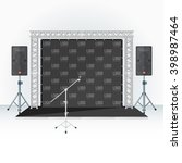low conference stage metal...   Shutterstock .eps vector #398987464