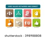 core values flat icon set | Shutterstock .eps vector #398988808