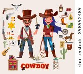 Wild West Cowboy And Cow Girl....