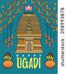 happy ugadi and gudi padwa...   Shutterstock .eps vector #398993878