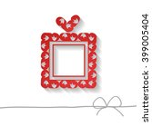 red paper gift box on the white ... | Shutterstock .eps vector #399005404