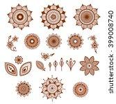 henna ornamental floral... | Shutterstock .eps vector #399008740
