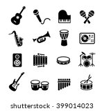 collection of musical... | Shutterstock .eps vector #399014023
