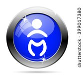 baby icon. internet button on... | Shutterstock .eps vector #399017380